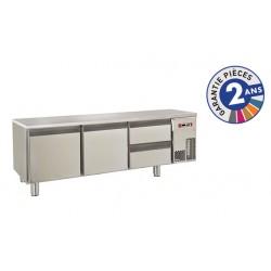 Soubassement réfrigéré sans dessus - 2 tiroirs + 2 portes - 220 L - Gamme 650 - Baron