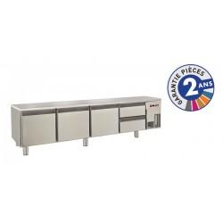 Soubassement réfrigéré sans dessus - 2 tiroirs + 3 portes - 300 L - Gamme 650 - Baron