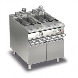 Friteuse électrique monobloc - 15 + 15 litres - Gamme Queen 700 - 70QFRIE815 - Baron