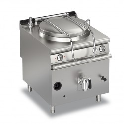 Marmite gaz ronde - 111 litres - Chauffe indirecte - Gamme Queen 900 - 90QPFGI100 - Baron