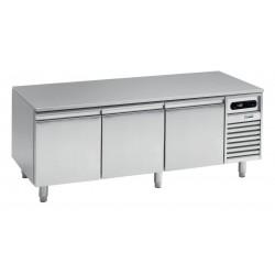 Soubassement réfrigéré négatif -15/ -20°C - 3 grands tiroirs - 140 L - BRU116N - Nosem