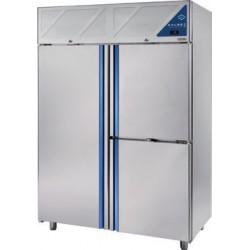 Armoire réfrigérée 0/+10 / -18/-22 - 1 porte pleine + 2 portillons - 1400 L - Avec groupe logé - DA1412PN-3 - Dalmec