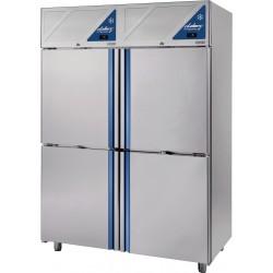 Armoire réfrigérée 0/+10 / -18/-22 - 4 portillons - 1400 L - Avec groupe logé - DA1404PN-3 - Dalmec