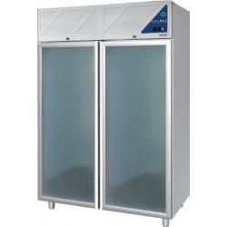 Armoire réfrigérée 0/+10 / -18/-22 - 2 portes vitrées - 1400 L - Avec groupe logé - DA1400PNV-3 - Dalmec