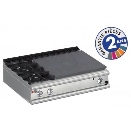 Plaque de cuisson - Top 2 feux vifs gaz + Plaque coup de feu - Gamme 700 - Baron