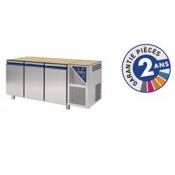 Table réfrigérée négative avec dosseret -18/-22°C - 350 L - 3 portes - Avec groupe logé - SN603N-3 - Dalmec