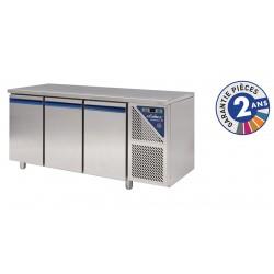 Table réfrigérée négative sans dosseret -18/-22°C - 350 L - 3 portes - Sans groupe logé - SN603NSGC-3 - Dalmec