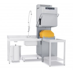 Lave-vaisselle à capot avec adoucisseur en continu - 22 litres - Panier 500 x 500 mm - TOP820ATR - COLGED