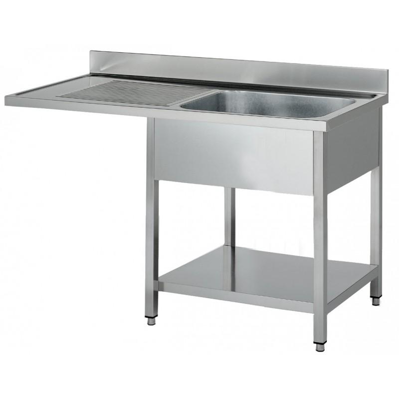 nosem plonge inox pour lave vaisselle 1 bac egouttoir gauche 700 mm de profondeur. Black Bedroom Furniture Sets. Home Design Ideas
