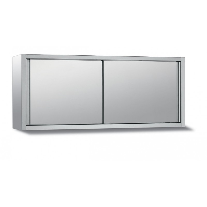 Nosem placard mural en inox h 650 x p 400 mm for Meuble mural inox