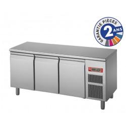 Soubassement réfrigéré sans dessus - 3 portes - 220 L - Gamme 650 - Baron