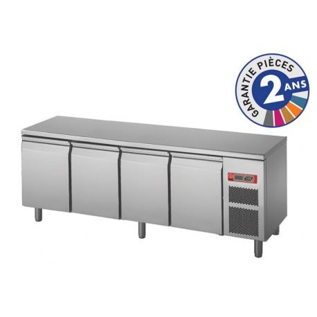 Soubassement réfrigéré sans dessus - 4 portes - 300 L - Gamme 650 - Baron