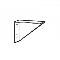 Nosem - Support fixe MEST pour étagère barreaudée - Prof. 400 x 400 mm - MESTFB40T