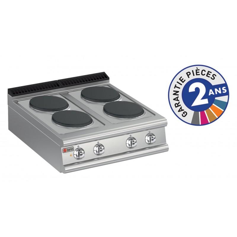 Baron gamme 700 4 plaques de cuisson lectriques for Disjoncteur plaque de cuisson