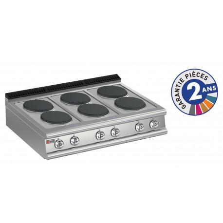 Plaque de cuisson - 6 plaques électriques - Gamme 700 - Baron