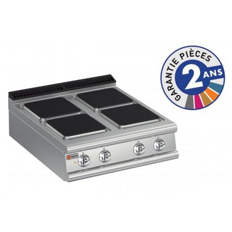 Plaque de cuisson - 4 plaques carrées électriques - Gamme 700 - Baron