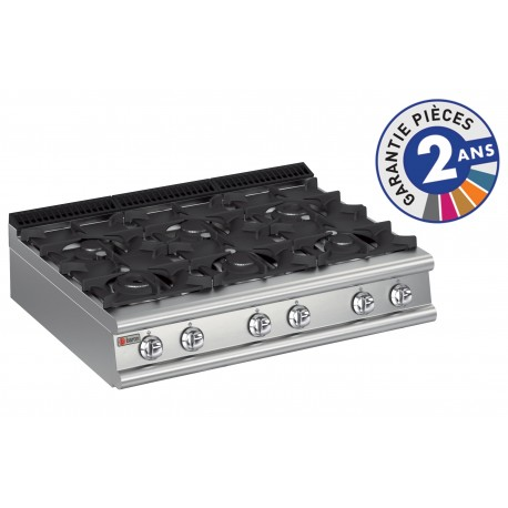 Plaque de cuisson - Top 6 feux vifs gaz - Gamme 900 - Baron