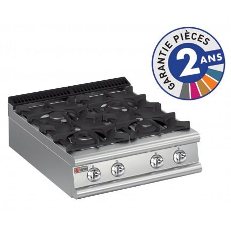 Plaque de cuisson - Top 4 feux vifs gaz - Gamme 900 - Baron