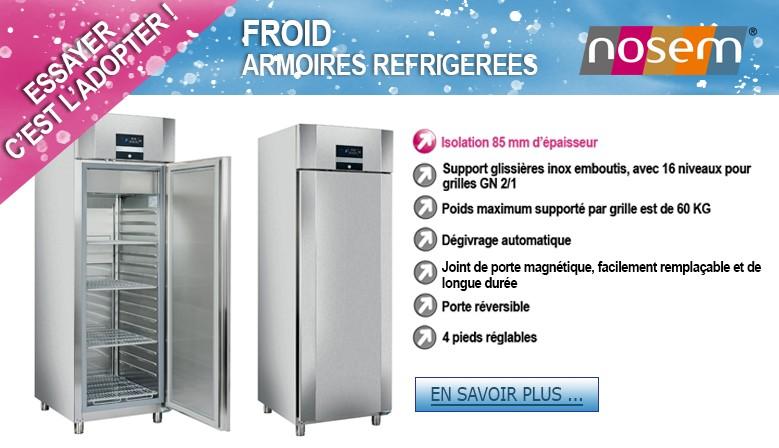 Armoires réfrigérées INOX 700 L
